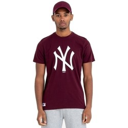 textil Herre T-shirts m. korte ærmer New-Era Team Logo New York Yankees Brun