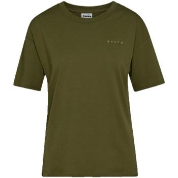textil Dame T-shirts m. korte ærmer Diadora Chromia Oc Grøn