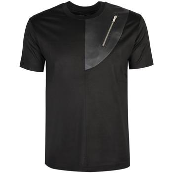 textil Herre T-shirts m. korte ærmer Les Hommes  Sort