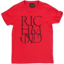 textil Dreng T-shirts m. korte ærmer Richmond Kids RBP21038TS Red