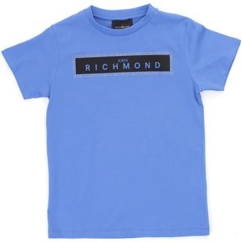 textil Dreng T-shirts m. korte ærmer Richmond Kids RBP21030TS Light blue