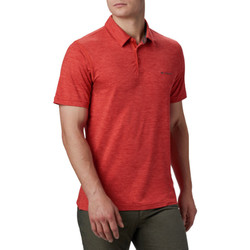 textil Herre Polo-t-shirts m. korte ærmer Columbia Tech Trail Polo Shirt Rød