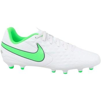 Sko Børn Fodboldstøvler Nike JR Tiempo Legend 8 Club MG Hvid, Grøn