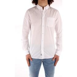 textil Herre Skjorter m. lange ærmer Blauer 21SBLUS01223 WHITE