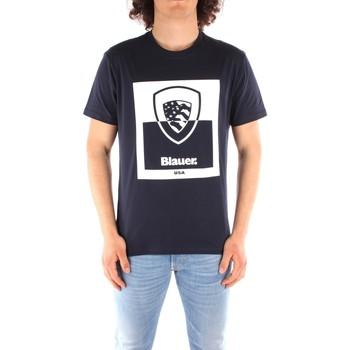 textil Herre T-shirts m. korte ærmer Blauer 21SBLUH02131 BLUE