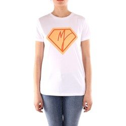textil Dame T-shirts m. korte ærmer Manila Grace T004CU WHITE