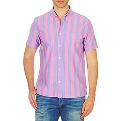 textil Herre Skjorter m. korte ærmer Ben Sherman BEMA00487S Pink / Blå