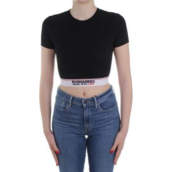 textil Dame Pullovere Dsquared2 Underwear D8M263470 Black