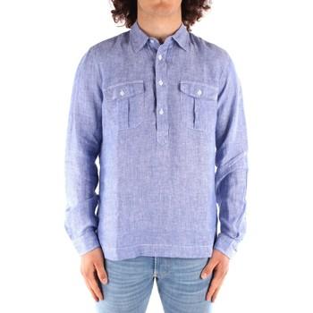 textil Herre Skjorter m. lange ærmer Blauer 21SBLUS01216 BLUE