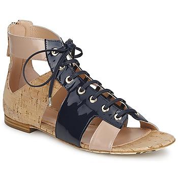 Sko Dame Sandaler John Galliano AN6379 Blå / BEIGE / Pink