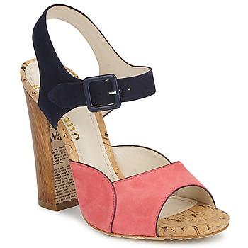 Sko Dame Sandaler John Galliano AN3571 Pink / Marineblå