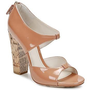 Sko Dame Sandaler John Galliano AN6364 Pink / Beige