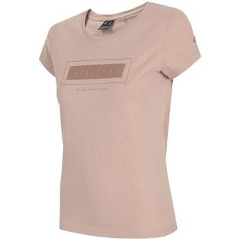 textil Dame T-shirts m. korte ærmer 4F TSD034 Pink