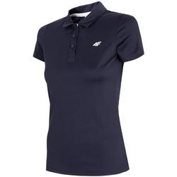 textil Herre Polo-t-shirts m. korte ærmer 4F TSDF080 Sort
