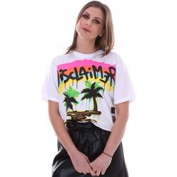 textil Dame T-shirts m. korte ærmer Disclaimer 21EDS50632 hvid