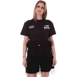 textil Dame T-shirts m. korte ærmer Disclaimer 21EDS50642 Sort