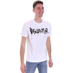 textil Herre T-shirts m. korte ærmer Disclaimer 21EDS50565 hvid