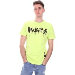 textil Herre T-shirts m. korte ærmer Disclaimer 21EDS50565 Grøn