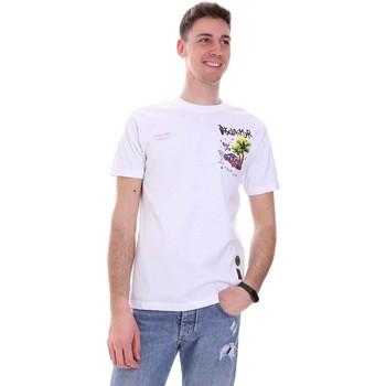 textil Herre T-shirts m. korte ærmer Disclaimer 21EDS50522 hvid