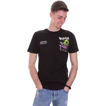 textil Herre T-shirts m. korte ærmer Disclaimer 21EDS50522 Sort