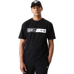 textil Herre T-shirts m. korte ærmer New-Era 12553333 Sort