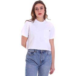 textil Dame T-shirts m. korte ærmer Dickies DK0A4XDEWHX1 hvid