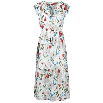 textil Dame Lange kjoler Moony Mood  Hvid / Flerfarvet
