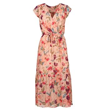 textil Dame Lange kjoler Moony Mood  Pink / Flerfarvet