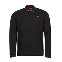 textil Herre Polo-t-shirts m. lange ærmer HUGO DONOL Sort