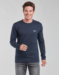 textil Herre Langærmede T-shirts BOSS TOGN CURVED Marineblå