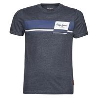 textil Herre T-shirts m. korte ærmer Pepe jeans KADE Blå