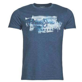 textil Herre T-shirts m. korte ærmer Pepe jeans GOLDERS Blå