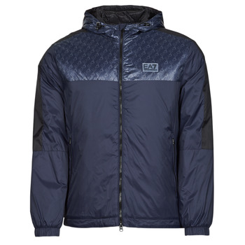 textil Herre Jakker Emporio Armani EA7 TRAIN LOGO SERIES Marineblå