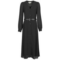 textil Dame Lange kjoler MICHAEL Michael Kors CRINKLE DOTS KATE DRS Sort