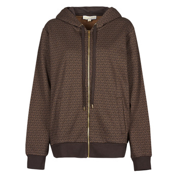 textil Dame Sweatshirts MICHAEL Michael Kors UNISEX MK DOT ZIP HOODIE Brun