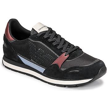 Sko Herre Lave sneakers Emporio Armani ANIMA Sort / Bordeaux