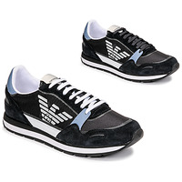 Sko Herre Lave sneakers Emporio Armani ANIMA Sort / Blå / Bordeaux
