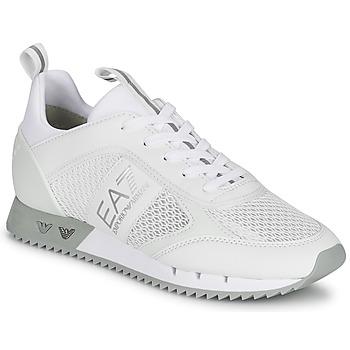 Sko Lave sneakers Emporio Armani EA7 BLACK&WHITE LACES Hvid