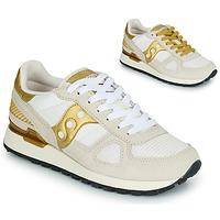 Sko Dame Lave sneakers Saucony SHADOW ORIGINAL Hvid / Guld