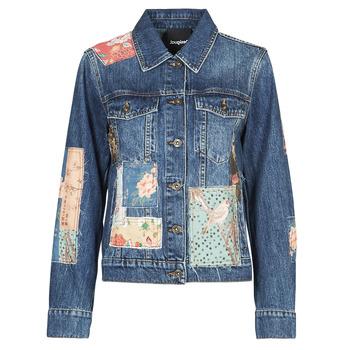 textil Dame Cowboyjakker Desigual JAPO PATCH Blå