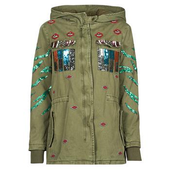 textil Dame Parkaer Desigual FLIX Kaki