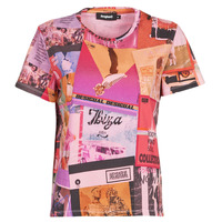 textil Dame T-shirts m. korte ærmer Desigual PROCLAIM Flerfarvet
