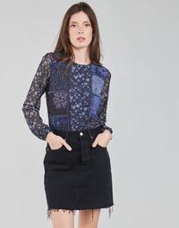 textil Dame Langærmede T-shirts Desigual BELLADONA Marineblå