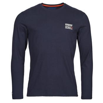 textil Herre Langærmede T-shirts Oxbow N2TORJOK Marineblå
