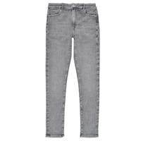 textil Pige Jeans - skinny Pepe jeans PIXLETTE HIGH Grå