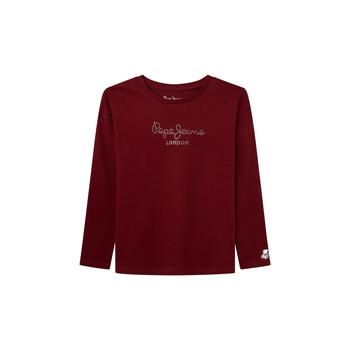 textil Pige Langærmede T-shirts Pepe jeans NURIA LS Rød