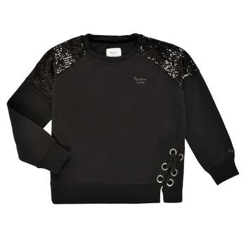 textil Pige Sweatshirts Pepe jeans ELENA Sort