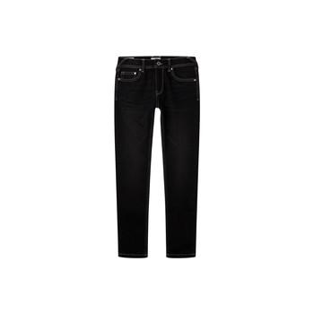 textil Dreng Jeans - skinny Pepe jeans FINLY Blå / Mørk
