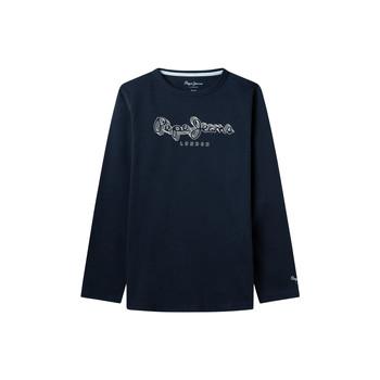textil Dreng Langærmede T-shirts Pepe jeans ALDO Marineblå