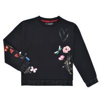 textil Pige Sweatshirts Desigual ALICIA Sort